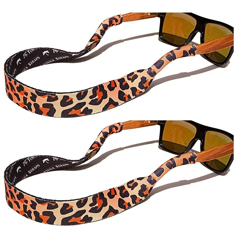 TORTUGA STRAPS FLOATZ Relaxed Fit Adjustable Glasses Strap | 2 Pk Neoprene Floating Sunglass Straps & Retainer
