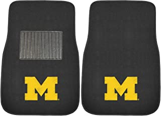 FANMATS 10752 Michigan 2-Piece Embroidered Car Mat