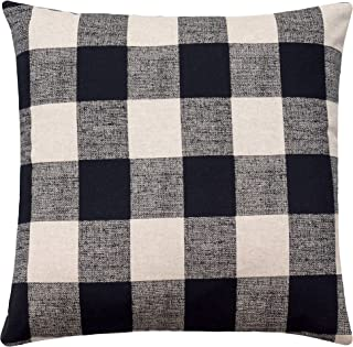 Buffalo Check Pillow Cover Anderson Black Linen Pillow Cover Black and Beige Pillow Black Check Cushion Cover Plaid Decora...