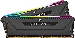Corsair Vengeance RGB Pro SL 32GB (2x16GB) DDR4 3600 (PC4-28800) C18 1.35V Desktop Memory - Black (CMH32GX4M2D3600C18)