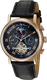 Lucien Piccard Men's LP-40012A-RG-01 Ottoman Analog Display Japanese Automatic Black Watch