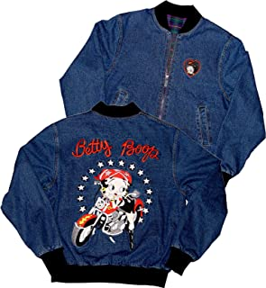 Licensed Betty Boop Scoot Biker Reversible Denim Jacket RJ-9023
