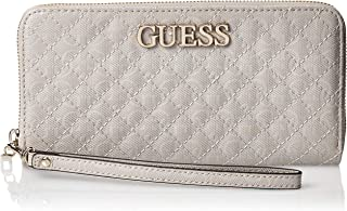 GUESS Womens Large Zip Around Purse, Cloud - SG743846
