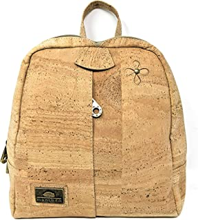 Fashion Backpack Purse for Women - Handmade in Portugal from Cork Leather - Vegan & PETA-Approved