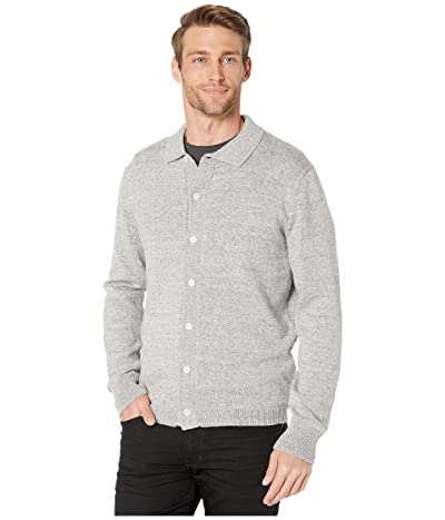J.Crew Winter Cotton Wool Polo Cardigan (Heather Grey) Men