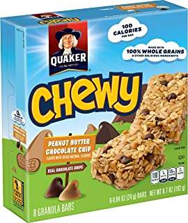 Quaker Chewy Peanut Butter Chocolate Chip Granola Bars, 8 ct,  .84 oz each