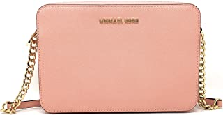Michael Kors Jet Set Item Large East West Saffiano Leather Cross-body (Pale Pink) 35T8GTTC9L-187