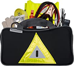 Secureguard Roadside Emergency Kit Includes – First Aid Kit, Jumper Cables, Tow Rope, and Many Other Supplies – 106 Pieces for Assistance with Most Roadside Emergencies