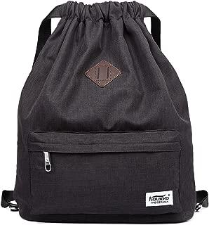 Drawstring Sports Backpack Lightweight Gym Yoga Sackpack Shoulder Rucksack for Men and Women Black
