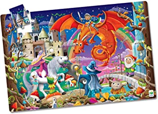 The Learning Journey - Puzzle Doubles! Glow in The Dark! - Fantasy - Puzzle for Kids - Toddler Games & Gifts for Boys & Gi...