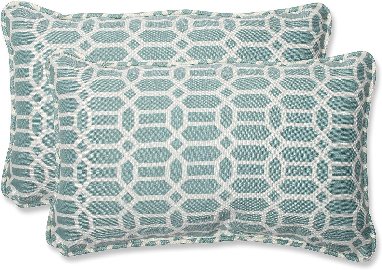 Pillow Perfect OFFicial shop 535388 Outdoor Rhodes Quartz Indoor Lumbar San Francisco Mall