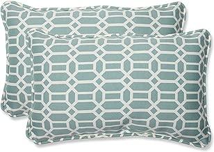 Pillow Perfect Outdoor Rhodes Quartz Rectangular Throw Pillow, Set of 2