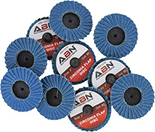 ABN 2in T27 80 Grit High Density Zirconia Alumina Flat Flap Disc Roloc Roll Lock Grinding..