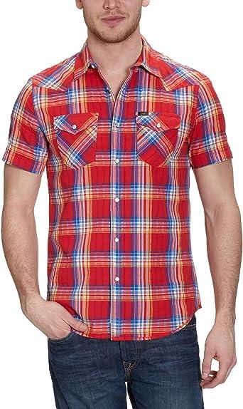 Lee Regular Western SS-L692MADW Camisa, Rojo (True Red ...