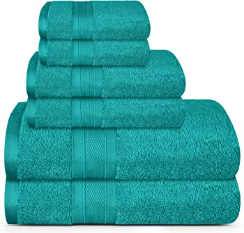 Trident Soft and Plush Highly Absorbent Bathroom 6 Piece Towels Set