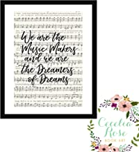 We are the music makers and we are the dreamers of dreams Willy Wonka Charlie and the Chocolate Factory Farmhouse Inspirational Quote Upcycled Vintage Book Page Unframed 5x7 Print