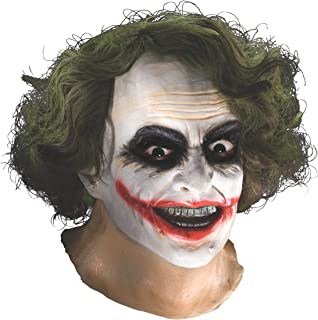 Batman The Dark Knight Adult Joker Latex Mask With Hair