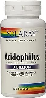 Solaray Acidophilus Plus Goat's Milk 3billion Supplement, 100 Count