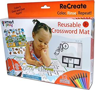 Smart Play Recreate-Large Reusable Crossword Mat-At The Zoo Colouring Mat