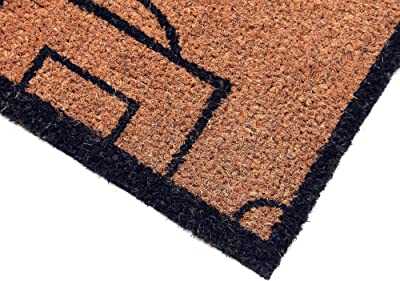 Coco&Coir Natural Coir | Non-Slip | Thick Coir | Premium Quality | Rubber Backed | Eco-Friendly | Indoor | Outdoor | Heavy Duty | Football Themed | Entrance Door Mat | 45 x 75 cm (The Game)