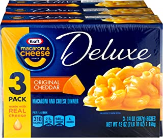 Kraft Deluxe Original Cheddar Macaroni & Cheese Dinner (3 – 14 oz Boxes)