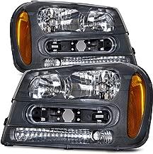 HEADLIGHTSDEPOT Compatible with Chevy Trailblazer New Headlamps Headlights Set