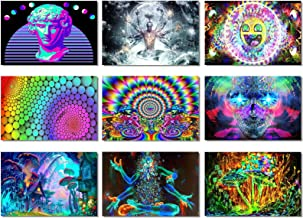 9X Fabric Poster Psychedelic Trippy Colorful Trippy Surreal Abstract Astral Digital Wall Art Prints 20x13