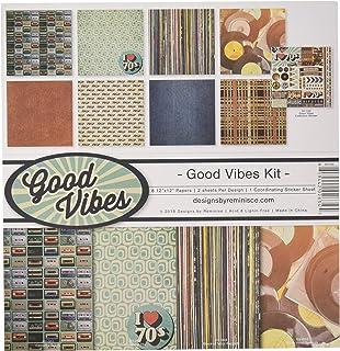 Reminisce GV-200 Good Vibes Scrapbook Collection Kit, Multi Color Palette