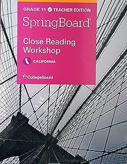 Best springboard close reading workshops Reviews