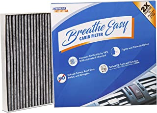 Spearhead Premium Breathe Easy Cabin Filter, Up to 25% Longer Life w/Activated Carbon (BE-151)