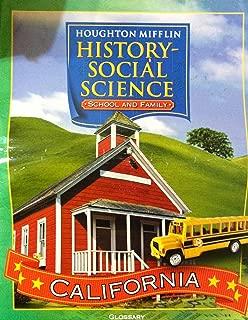 Houghton Mifflin Social Studies: Big Book Glossary Lvl 1