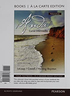 ¡Anda! Curso intermedio, Books a la Carte Plus MyLab Spanish -- Access Card Package (3rd Edition)