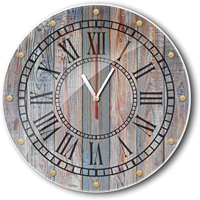 Retro Wall Clock Farmhouse Decor, unique wall clock, 11.8X11.8 inch,