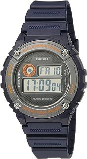 Casio Men's 'Illuminator' Quartz Resin Automatic Watch, Color:Blue (Model: W-216H-2BVCF)
