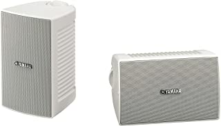 Yamaha Outdoor Speakers with Weatherproof 10cm Woofer and 2-Way bass-Reflex - NSAW194 (White)