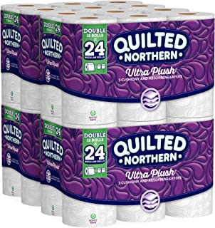 Quilted Northern  Ultra Plush Toilet Paper, Pack of 48 Double Rolls (Four 12-roll packages), Equivalent to 96 Regular Rolls--Packaging May Vary