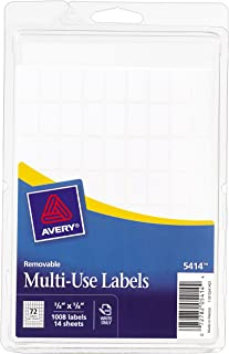Avery Removable Rectangular Labels, 0.375 x 0.625 Inches, White, Pack of 1008 (5414)