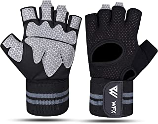 WESTWOOD FOX WFX Weight Lifting Gloves for Men Women Gym Gloves with Wrist Wrap Support for Workout Exercise Fitness Train...