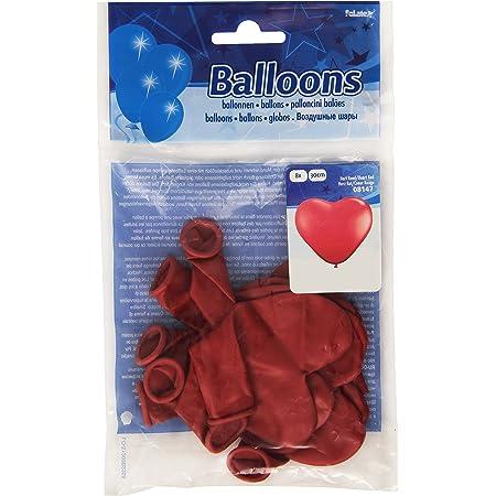 Palloncini a forma di cuore rossi - 8 pezzi