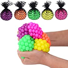 24 Colorful 1-Inch Mini Mesh Stress Balls - Squishy Fidget Toy Perfect for Kids and Adults Materials for Lasting Use - Squeeze Balls for Anxiety and Concentration - Great Party Favors