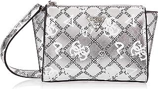Guess Womens Cross-Body Handbag, Silver Multi - GM766469