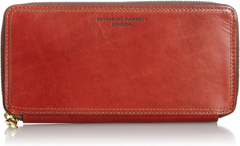 [KATHARINE HAMNETT LONDON] Purse antique style Turthe Round zipper long wallet