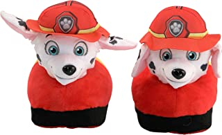 Animated Marshal Plush Slippers - Ultra Soft and Fuzzy - Nickelodeon Paw Patrol Character - Ears Move as You Walk