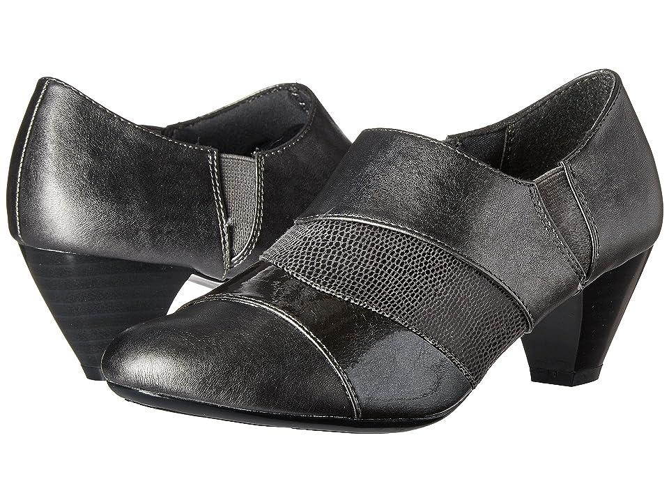 Soft Style Geva (Dark Pewter Vitello/Pearlized Patent/Lizard) Women