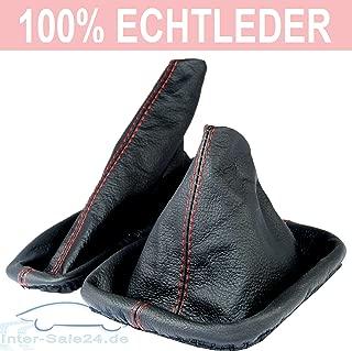 L/&P A0027 Funda saco cuero de 100/% real piel genuina negro con costura azul de palanca de cambios cambio velocidad velocidades marchas saco de conmutaci/ón