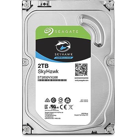 "Seagate Skyhawk 3.5"" 2TB 内蔵ハードディスク HDD 3年保証 64MB 5900rpm ネットワーク監視カメラ ビデオレコーダー用ST2000VX008"