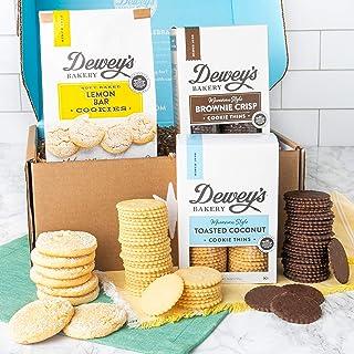 Dewey's Bakery Cookie Gift Basket - Moravian Cookies, Lemon Bar Soft Baked Cookies - 3 Piece Cookie Gift Box | Southern Tr...