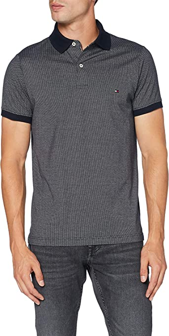 Tommy Hilfiger Two Tone Textured Slim Polo Camisa para Hombre