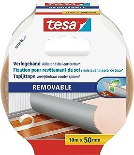 tesa förflyttning kan tas bort utan rester – tygstark, dubbelsidig tejp för fastsättning av mattor och PVC-golvbeläggninga...