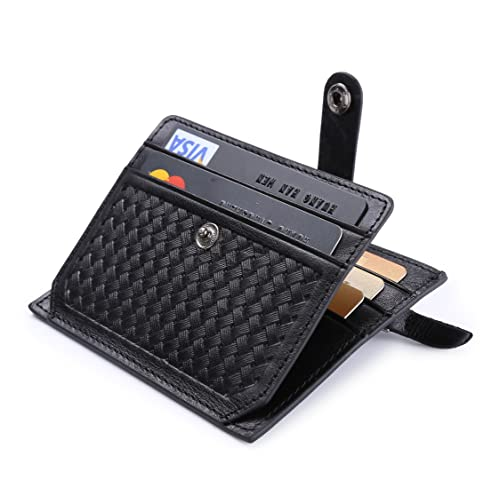 Women Card Holder Pocket Men Business ID Credit Wallet Button Slim Small Purse